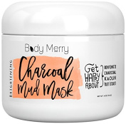 Charcoal Mud Mask & Facial Scrub to Remove Dead Skin Build Up & Blackheads - Unclog Pores to Fight Acne & Detoxify + Brighten Your Complexion with Best Anti-Ageing Fruit Extracts + Bentonite + Kaolin