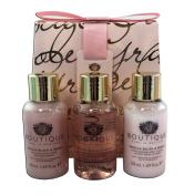 Boutique Vanilla Blush & Peony Travel Set, Bath Soak, Shower Gel and Body Lotion