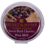 Heart & Home Wax Tart Melt Home Fragrance - Sweet Black Cherries