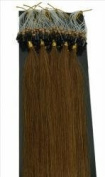 100 Strands Chestnut Brown USA Remy Micro Loop with Bead Attached Human Hair Extensions 50 grammes 48cm - 50cm