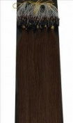 100 Strands Medium Brown USA Remy Micro Loop with Bead Attached Human Hair Extensions 50 grammes 48cm - 50cm