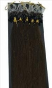 100 Strands Chocolate Brown USA Remy Micro Loop with Bead Attached Human Hair Extensions 50 grammes 48cm - 50cm