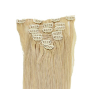 100% Full Head Clip In Real Remy Human Hair Extensions Clip on Hair Weft 38cm 46cm 50cm 70g/set
