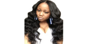 Preferred Hair Full Lace Wig 30cm 100% Indian Virgin Human Hair Bodey Wave Colour #1B
