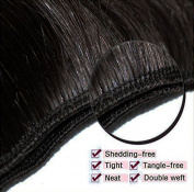 100% Unprocessed Brazilian Virgin Human Hair Extensions Grade 7A Quality Weave Weft Body Wave Hairs, #1B Natural Black 100g,60cm /60cm