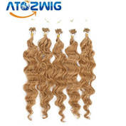 100pcpack #27 Blonde Body Wave 100% High end Indian remy human double micro rings loop hair extension