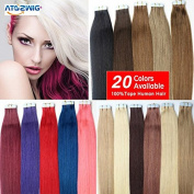 20 colours Tape In Hair Extensions 20pcs/set Tape Hair Remy Human Hair Skin Weft 41cm Double Sided Tape Extensions Promotion