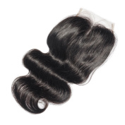 OCEANE HAIR Middle Part Lace Closure Human Hair Body Wave Brazilian Hair 130% Density With Only One Line