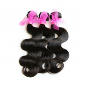 Miss Kiss Hair 6A Mix Length Brazilian Virgin Hair Body Wave Human Hair Unprocessed Extension Natural Colour Pack of 3 Bundles Remy Hair Weave