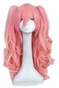 Yuehong Long Curly 60cm Lolita Cosplay Wigs Party Wig Lolita Cos Wig With Two Ponytails
