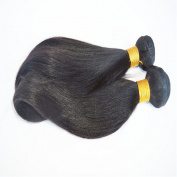 Drasawee 100% Yaki Straight Brzailian Real Human Hair Wigs Hair Extensions Bundles Black 30cm