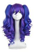 Yuehong Long Curly Synthetic Wig Halloween Party Wig With Two Ponytails Cosplay Lolita Wig Anime Wigs