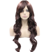 Auspiciouswig Curly 60cm Long Japanese Heat Resistant Synthetic Hair Wigs