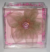 Tarina Tarantino Tan & Pink Tulle Hair Clip with. Elements