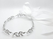 Bridal Ancent Crystal & Pearl Headband Hairpin