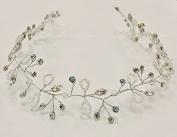 Bridal Princess Crystal & Pearl Headband Hairpin