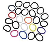 Making Waves Women's Thick Ponytail Holder Hair Ties, Ouchless, (24 Pcs) Assorted Colours