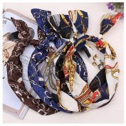 Lovef Women Ladies Rockabilly Hair Bands Head Wrap Vintage Headbands Wired Retro Scarf 5 Pcs Random Colour