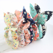 Lovef Korean Style 10x Cute Girls floral Rabbit Ear Hair Tie Bands Ropes Ponytail Holder