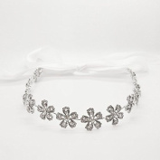 Bridal Flowers Crystal Headband Hairpin