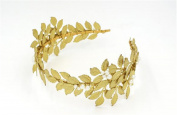 Wiipu Retro Golde Tone Pearl leaves Head Wrap Hair Band Bride lovely hairband Wedding Jewellery