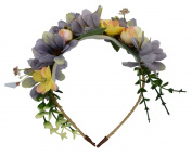Beautiful Flowers Wreath Headband Floral Crown Garland Halo Hair Hoop for Wedding Festivals FWB1905