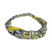 Yellow Bright Floral Hair Turband