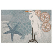 Homefires Accents Coastal Egret Indoor Rug, 60cm by 90cm