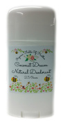 Organic & Natural Deodorant That Naturally Detoxes - Peachy Coconut Dream Scent - W/Organic Non-GMO Ingredients - For Women - Men - Kids - NO