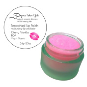 Lip Scrub - Smoochies! Exfoliating Lip Polish - Vegan Organic - 24g (Cherry Vanilla Pop!