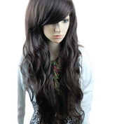 Fashion Stylish Long Full Curly Wavy Party Lady Girl Natural Black Hair Wig