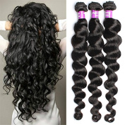 6A Brazilian Virgin Hair 3 Bundle 50G/Pcs Loose wave Human Hair Virgin Hair Extension Unprocessed Brazilian Virgin Hair
