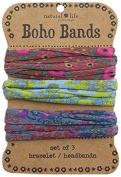 Natural Life Boho Bands, Brown/Green/Grey
