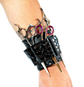 ZZZRT NEW PROFESSIONAL ROCK STAR! WRIST BLACK 4 SHEARS SCISSORS HOLSTER/HOLDER