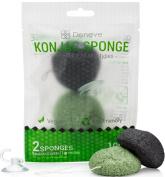 Green Tea Natural White Konjac Sponge By Deneve, Bath Sponge, Body Wash Sponge, Facial Sponge, Exfoliating Sponge, Konjac Sponge, Body Scrub Sponge, Exfoliate Sponge, Facial Cleansing Sponge