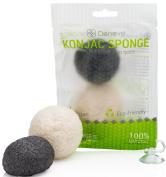 Natural White Bamboo Charcoal Konjac Sponge By Deneve, Bath Sponge, Body Wash Sponge, Facial Sponge, Exfoliating Sponge, Konjac Sponge, Body Scrub Sponge, Exfoliate Sponge, Facial Cleansing Sponge