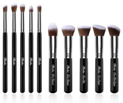 Maeline® Essential Premium Collection Makeup Brush Synthetic Kabuki Set Cosmetics Foundation Blending Blush Eyeliner Face Powder Brush Makeup Brush Kit + Make Up Brush Case