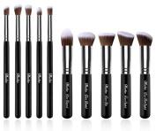 Maeline® Essential Premium Collection Makeup Brush Synthetic Kabuki Set Cosmetics Foundation Blending Blush Eyeliner Face Powder Brush Makeup Brush Kit + Make Up Brush Case