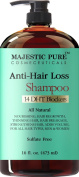 Hair Loss and Hair Regrowth Shampoo for Men & Women From Majestic Pure Offers Potent Natural Ingredient Based Product, Add Volume and Strengthen Hair, Sulphate Free, 14 DHT Blockers,470ml