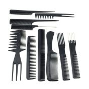 Youngman Hair Styling Combs Sets 10 Pcs Pro Hair Dressing Combs