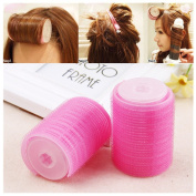 Lovef Women Bangs Hair Styling Tools Salon Curlers Hot hook and loop Cling Rollers Curlers Hair Rollers Double 2Pcs