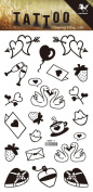 Grashine long last temporary tattoos Carton design look like real temporary tattoo stickers including hearts,swans,strawberries,gift card,letter,cheers,etc.