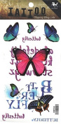 Grashine long last temporary tattoos Colourful and beautiful butterflies look like real temporary tattoo stickers