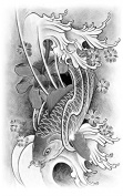 Grashine long last temporary tattoos Upper arm Fish look like real temporary tattoo stickers for adults