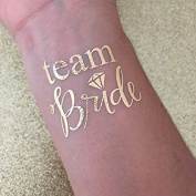 Set of 16 Bachelorette Party, bachelorette tattoo, gold script team bride, bridal party, bridesmaid tattoo, bride, hens party, wedding party