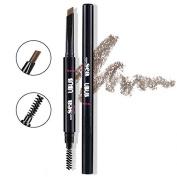Hey Beauty Eyebrow Pencil Waterproof Automatic Brush Makeup Cosmetic Tool,Light Brown-2#