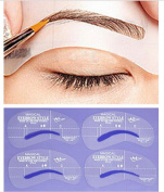 Wispun 24Styles Eyebrow Grooming Beauty Tools Plastic Brow Drawing Shaping Template