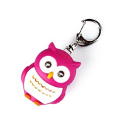 Banggood Adorable Owl Keychain with Light Sound for Best Friends Red