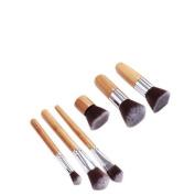 Victony 6PCS Wood Handle Face Cosmetic Foundation Concealer Brush Set