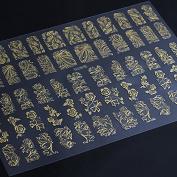 Bluezoo 3D Gloden Full Nail Art Sticker 60 Decals/sheet -YILIN 81-84